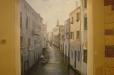 Trompe l'Oeil niche mural. Venice