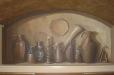 Trompe l'Oeil niche mural in kitchen