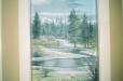 Niche mural. Canadian landscape