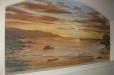 Niche mural, beach sunset