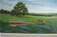 Office mural, Texas Hill country