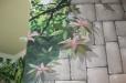 Breakfast nook, Trompe l'Oeil flowers, garden mural