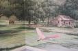 Louisiana Plantation Home.Mural on Canvas