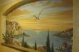 Mediterranean View Mural Niche