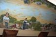 Mural. Farmers harvesting the vineyard