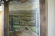 Entryway mural. Tuscan landscape