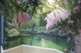 Breakfast nook mural, Tranquil Garden