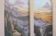 Niche mural, Mountains and waterfall