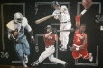 Sports-room mural