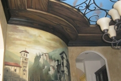 Decorative mural and ceilin
