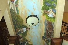 Mural-Farmers harvesting a vineyard