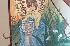 Residential Stairway-mural detail