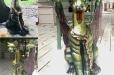Iron gargoyle statue