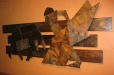 Matadore, abstract wood sculpture. Don Ramon's Mexican Fine Restaurant.