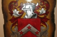 Kerr Family, Coat of Arms. Painted on wood.