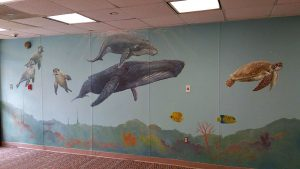 Sea world mural